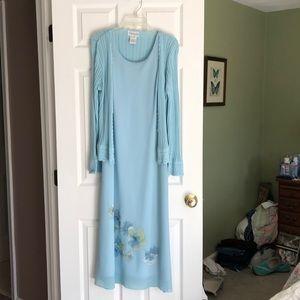 Full length spring dress.
